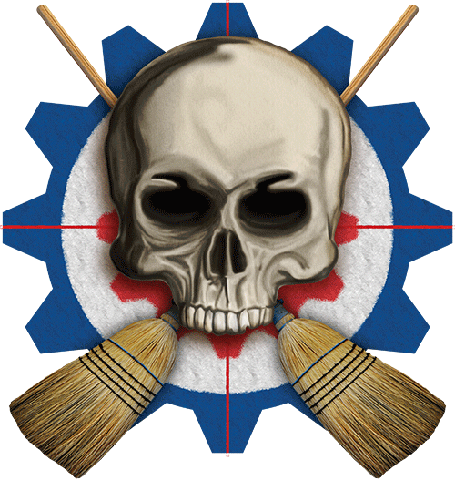 Skull & Crossbrooms - Cog House